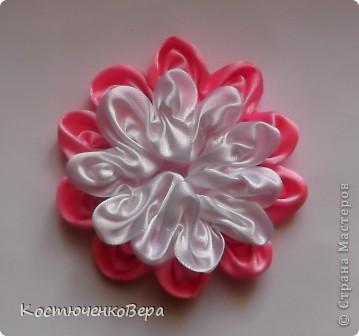 Мастер-класс Моделирование: Цветы из лент Клей, Ленты. Фото 10