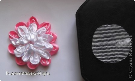 Мастер-класс Моделирование: Цветы из лент Клей, Ленты. Фото 11