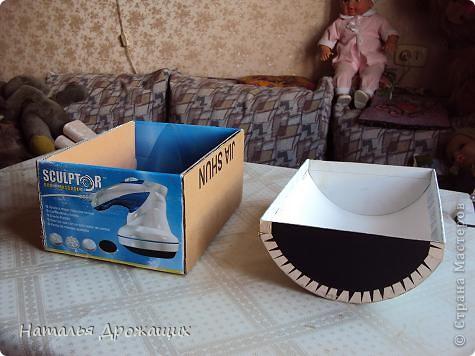 Пиратский сундук из коробки пошагово