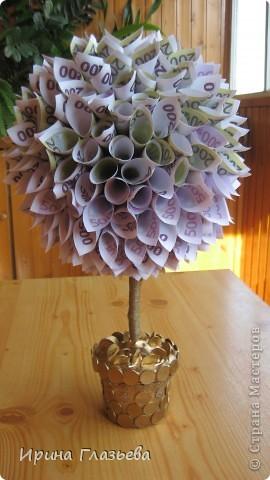Денежное дерево своими руками мастер класс из бисера