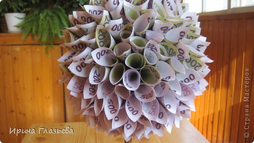 Как сделать дерево из денег из бумаги