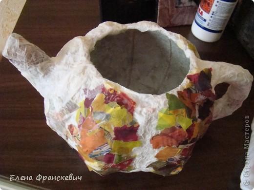 Чайник из папье-маше своими руками
