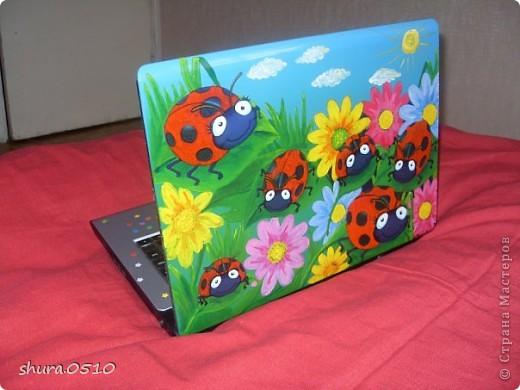 Декупаж на ноутбуке мастер класс
