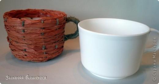 Декор предметов, Мастер-класс Плетение: Пластмассовую кружку превращаем ... в кашпо))). Фото 2