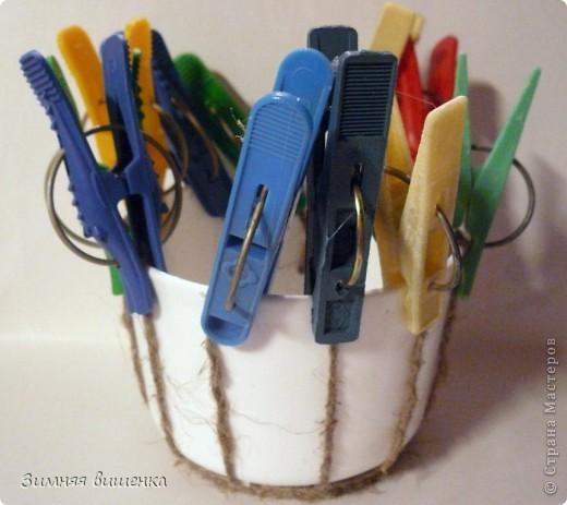 Декор предметов, Мастер-класс Плетение: Пластмассовую кружку превращаем ... в кашпо))). Фото 6