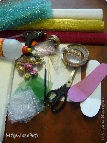 Мастер-класс, Свит-дизайн Бумагопластика: Сладкая туфелька МК Бумага гофрированная. Фото 2