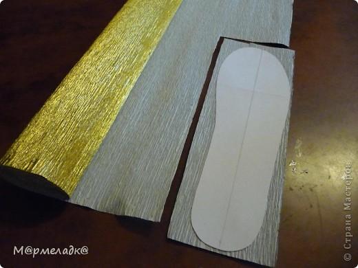 Мастер-класс, Свит-дизайн Бумагопластика: Сладкая туфелька МК Бумага гофрированная. Фото 7