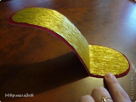 Мастер-класс, Свит-дизайн Бумагопластика: Сладкая туфелька МК Бумага гофрированная. Фото 9