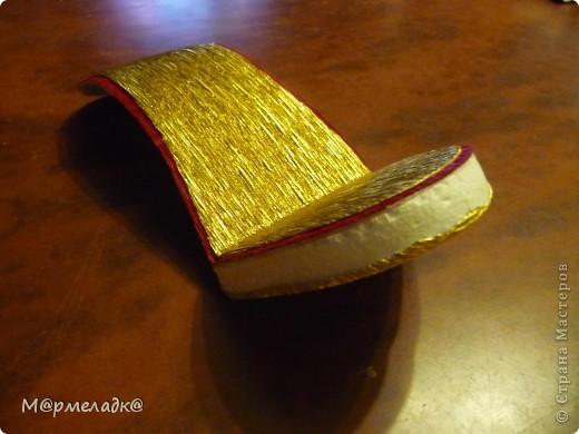 Мастер-класс, Свит-дизайн Бумагопластика: Сладкая туфелька МК Бумага гофрированная. Фото 15
