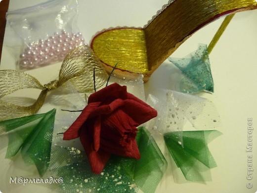 Мастер-класс, Свит-дизайн Бумагопластика: Сладкая туфелька МК Бумага гофрированная. Фото 28