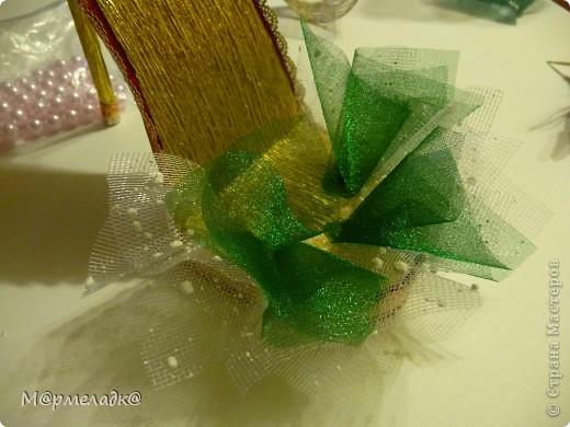 Мастер-класс, Свит-дизайн Бумагопластика: Сладкая туфелька МК Бумага гофрированная. Фото 30