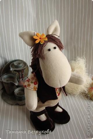Игрушка Шитьё: Лошадка Иго-Го....В гости к Вам... Ткань Дебют. Фото 4