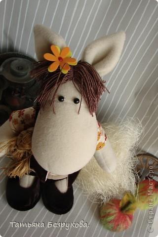 Игрушка Шитьё: Лошадка Иго-Го....В гости к Вам... Ткань Дебют. Фото 9
