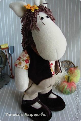 Игрушка Шитьё: Лошадка Иго-Го....В гости к Вам... Ткань Дебют. Фото 6