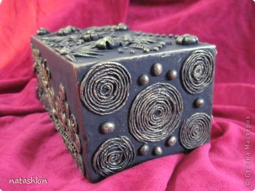 Декор предметов Лепка: Коробулька  для денежек  (Пейп-арт) Материал природный, Салфетки, Фарфор холодный. Фото 3