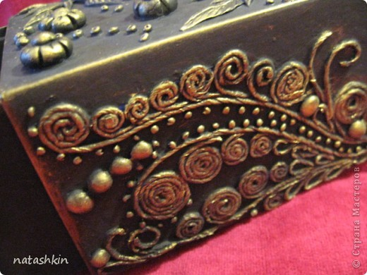 Декор предметов Лепка: Коробулька  для денежек  (Пейп-арт) Материал природный, Салфетки, Фарфор холодный. Фото 6