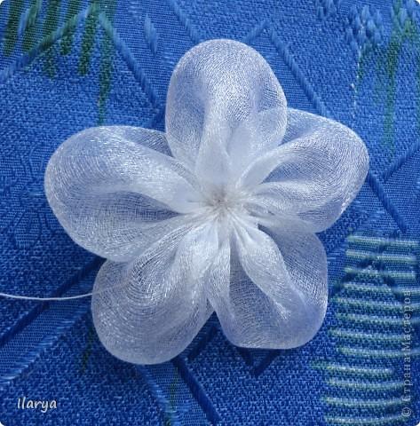 Мастер-класс Шитьё: МК пышный цветок Клей, Ленты Начало учебного года. Фото 5