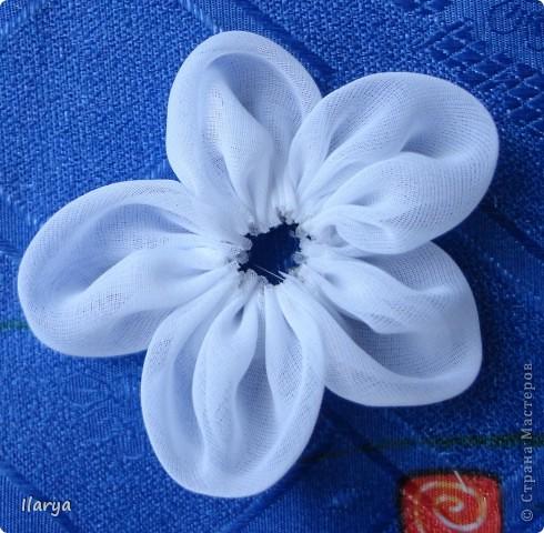 Мастер-класс Шитьё: МК пышный цветок Клей, Ленты Начало учебного года. Фото 6