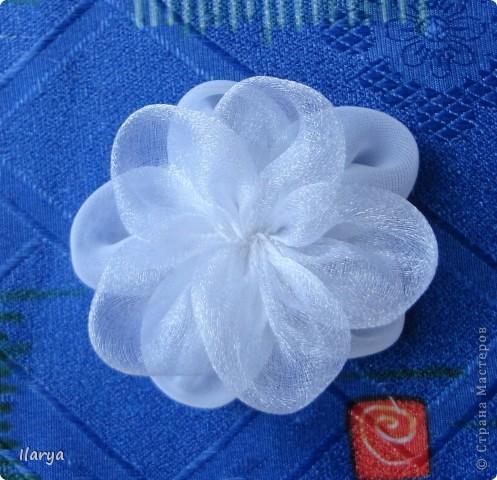 Мастер-класс Шитьё: МК пышный цветок Клей, Ленты Начало учебного года. Фото 7