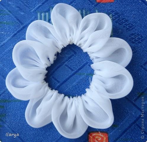 Мастер-класс Шитьё: МК пышный цветок Клей, Ленты Начало учебного года. Фото 8
