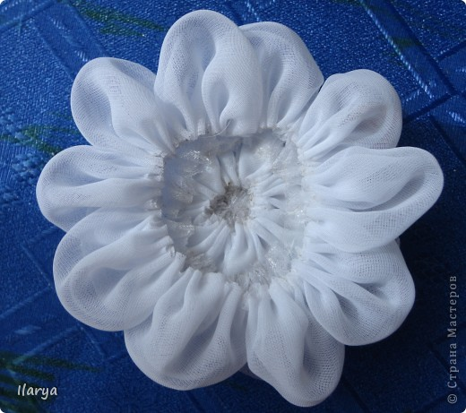 Мастер-класс Шитьё: МК пышный цветок Клей, Ленты Начало учебного года. Фото 10