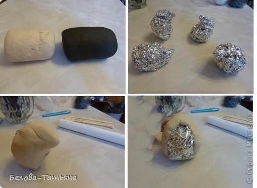 Мастер-класс Лепка: Ёжики из солёного теста. Тесто соленое. Фото 5