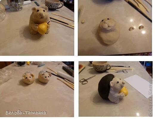 Мастер-класс Лепка: Ёжики из солёного теста. Тесто соленое. Фото 7