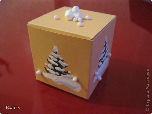 Новогодняя шкатулка своими руками из картона