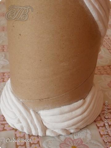 Декор предметов, Мастер-класс Декупаж, Лепка, Папье-маше:  МК.  Напольная ваза своими руками.  Африканские мотивы. Процесс. Гипс, Клей, Материал бросовый, Салфетки, Фарфор холодный. Фото 5