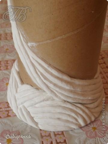 Добрый день, Страна Мастеров!!! Как и обещала, покажу  некоторые промежуточные фотографии   процесса изготовления напольной вазы с африканскими мотивами. . Фото 6