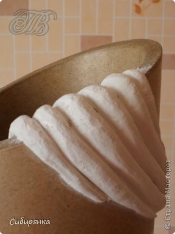 Декор предметов, Мастер-класс Декупаж, Лепка, Папье-маше:  МК.  Напольная ваза своими руками.  Африканские мотивы. Процесс. Гипс, Клей, Материал бросовый, Салфетки, Фарфор холодный. Фото 7