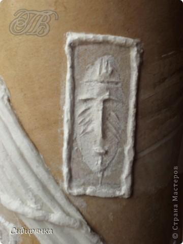 Декор предметов, Мастер-класс Декупаж, Лепка, Папье-маше:  МК.  Напольная ваза своими руками.  Африканские мотивы. Процесс. Гипс, Клей, Материал бросовый, Салфетки, Фарфор холодный. Фото 10