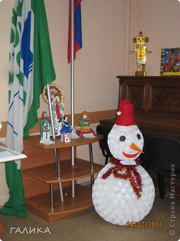 Поделка снеговик и елка своими руками