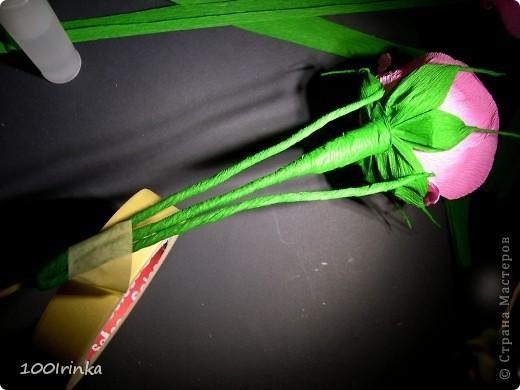 """Мастер-класс Бумажный туннель: РОЗОЧКИ ДЛЯ """"РОЗОЧКИ"""" Бумага гофрированная День рождения. Фото 34"""