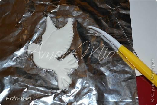 Мастер-класс, Поделка, изделие Лепка: Мой обещанный МК по Голубям Пластика Свадьба. Фото 15