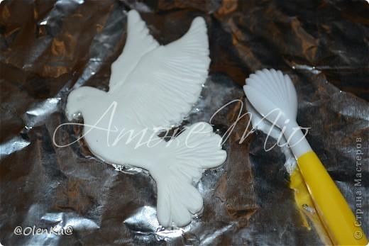 Мастер-класс, Поделка, изделие Лепка: Мой обещанный МК по Голубям Пластика Свадьба. Фото 16