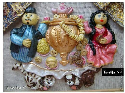 Картина, панно, рисунок, Мастер-класс Лепка: Чаепитие по-татарски!!! + МК (солёное тесто) Тесто соленое. Фото 1