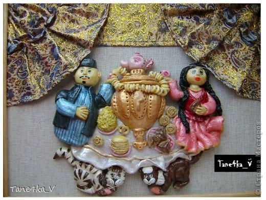 Картина, панно, рисунок, Мастер-класс Лепка: Чаепитие по-татарски!!! + МК (солёное тесто) Тесто соленое. Фото 21