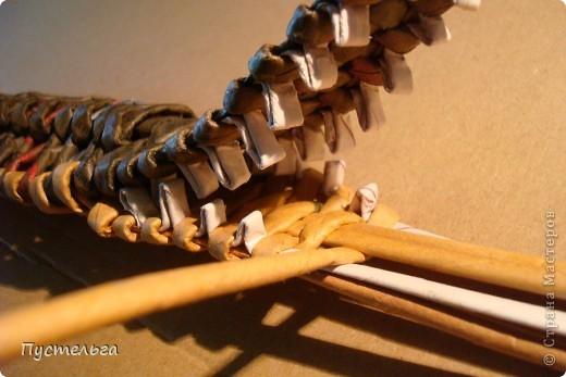 Мастер-класс, Поделка, изделие Плетение: Крокодил Бумага газетная. Фото 22