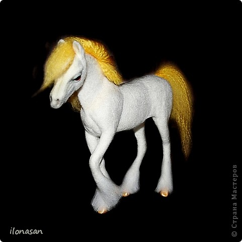 Мастер-класс Валяние (фильцевание): Лошадь из шерсти Пластика, Шерсть. Фото 1