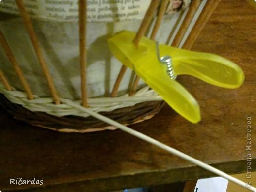 Мастер-класс, Поделка, изделие Плетение: Послойное плетение  Бумага газетная. Фото 5