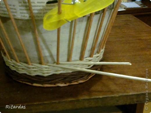 Мастер-класс, Поделка, изделие Плетение: Послойное плетение  Бумага газетная. Фото 6