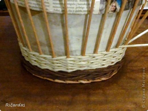 Мастер-класс, Поделка, изделие Плетение: Послойное плетение  Бумага газетная. Фото 7