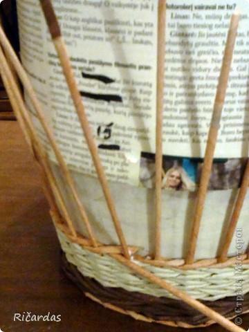 Мастер-класс, Поделка, изделие Плетение: Послойное плетение  Бумага газетная. Фото 9