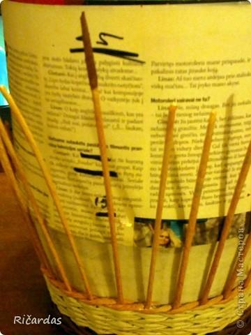 Мастер-класс, Поделка, изделие Плетение: Послойное плетение  Бумага газетная. Фото 10