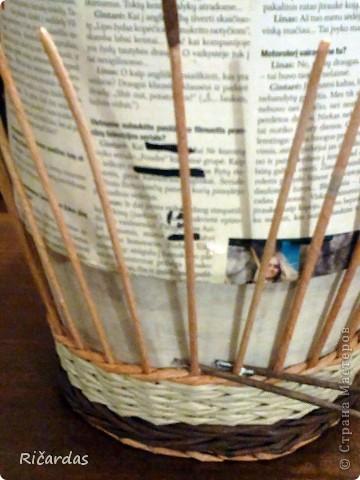 Мастер-класс, Поделка, изделие Плетение: Послойное плетение  Бумага газетная. Фото 11