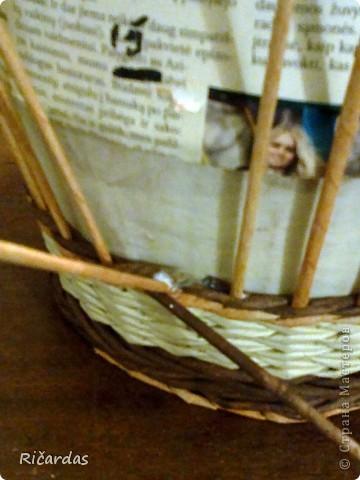 Мастер-класс, Поделка, изделие Плетение: Послойное плетение  Бумага газетная. Фото 12