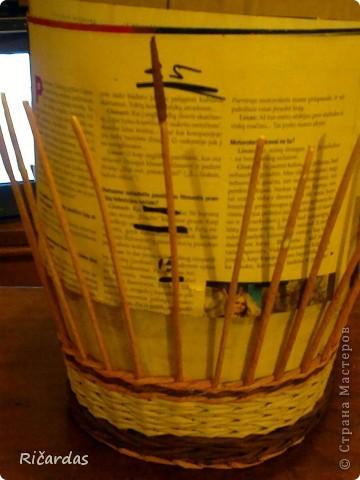 Мастер-класс, Поделка, изделие Плетение: Послойное плетение  Бумага газетная. Фото 13