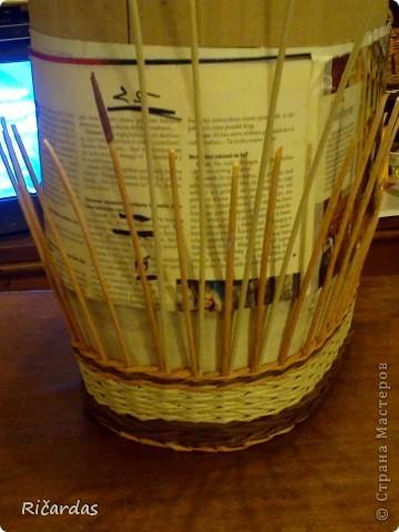 Мастер-класс, Поделка, изделие Плетение: Послойное плетение  Бумага газетная. Фото 14