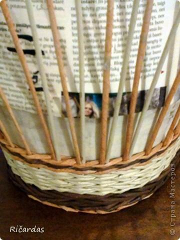 Мастер-класс, Поделка, изделие Плетение: Послойное плетение  Бумага газетная. Фото 15